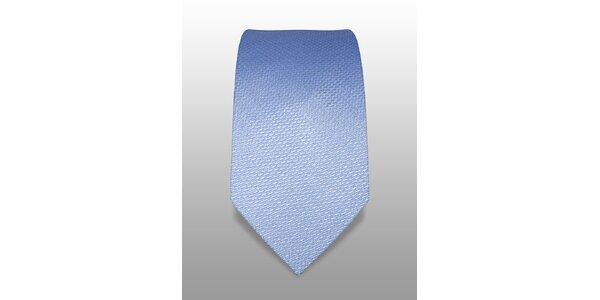 Ledově modrá kravata s jemnou strukturou značky Vincenzo Boretti