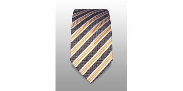 Bílá kravata s jemným vzorem značky Vincenzo Boretti