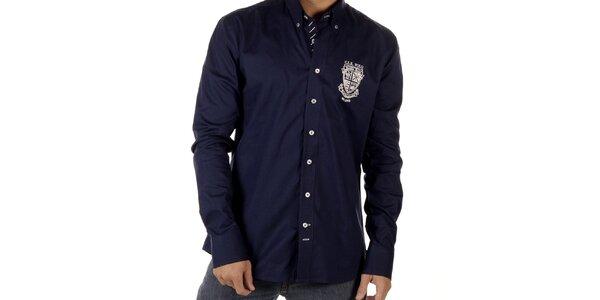 Pánská tmavě modrá košile se znakem CLK