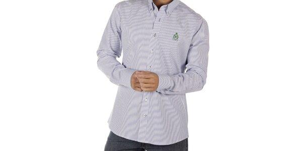 Pánská modře pruhovaná košile CLK