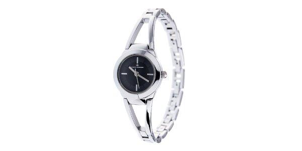 Dámské ocelové hodinky Tom Tailor s černým ciferníkem