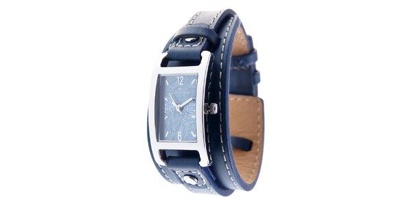Dámské náramkové hodinky Tom Tailor s tmavě modrým koženým řemínkem