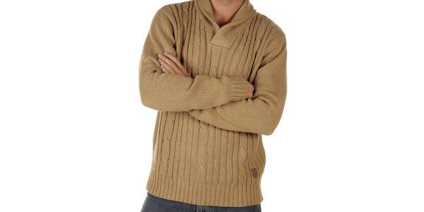 Pánský béžový pletený svetr CLK