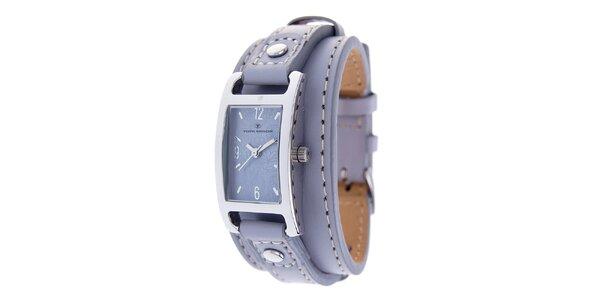 Dámské náramkové hodinky Tom Tailor se světle fialovým koženým řemínkem
