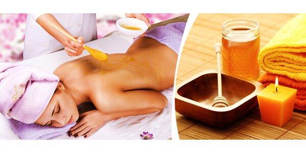 Medová detoxikační masáž se zábalem v délce 60 minut