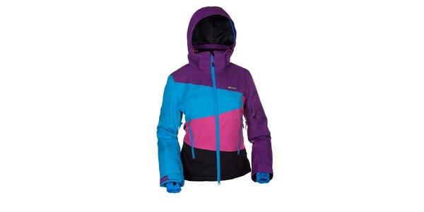 Dámská snowboardová bunda v modro-růžovo-fialovo-černé barvě Envy