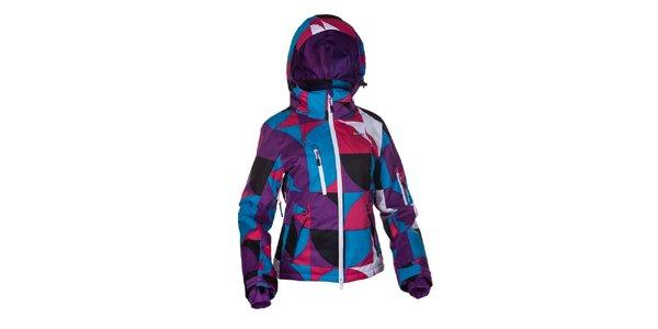 Dámská fialovo-modro-růžová zimní bunda Envy