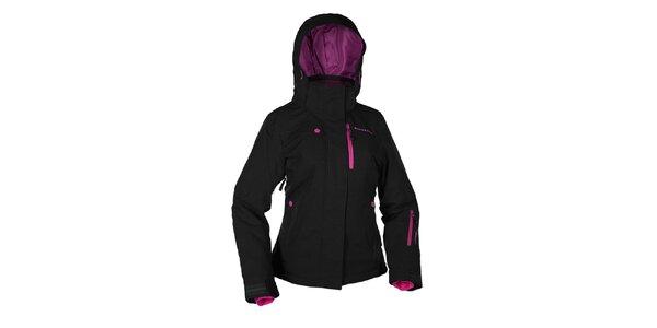 Dámská černá zimní bunda s růžovými prvky Envy