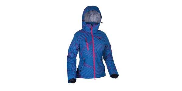 Dámská modrá lyžařská bunda s potiskem Envy