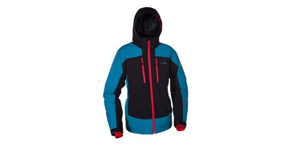 Pánská modrá softshellová bunda s kapucí Envy