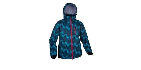 Pánská modrá zimní bunda s potiskem Envy