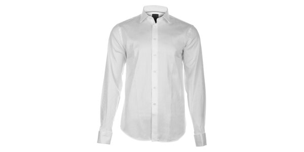 Pánská bílá košile Calvin Klein s jemným proužkem