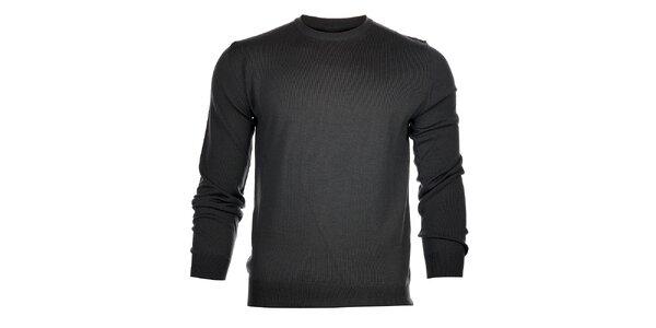 Pánský tmavě šedý svetr Calvin Klein