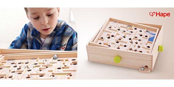 Dřevěný labyrint - logická hračka od 3 až do 99 let