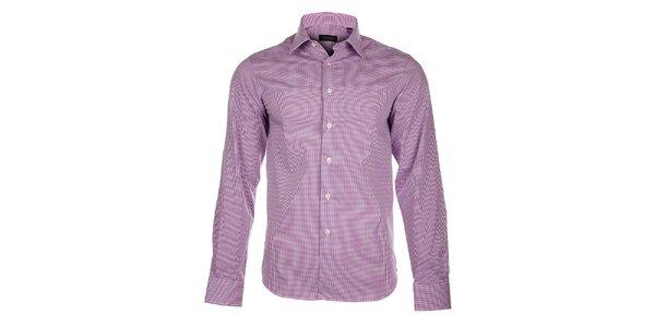 Pánská fialovorůžová kostičkovaná košile Calvin Klein