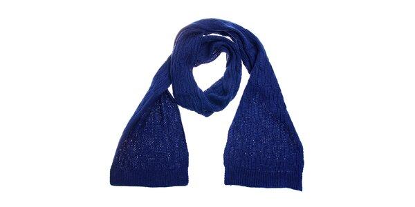 Dámská tmavě modrá pletená šála Fraas