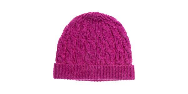 Dámská sytě růžová pletená čepice Fraas