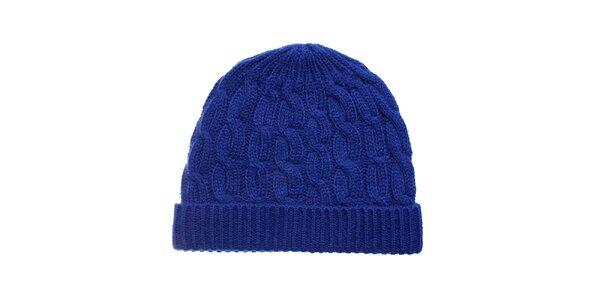 Dámská zářivě modrá pletená čepice Fraas