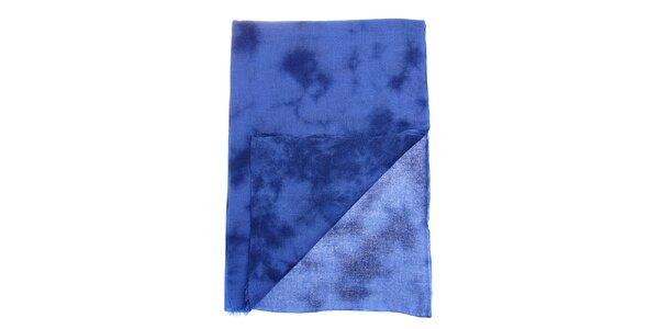 Dámský modrý batikovaný šál Fraas