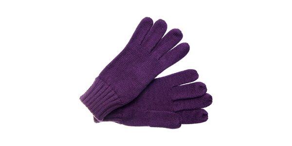 Dámské tmavě fialové rukavice Fraas