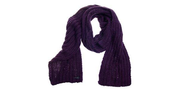 Dámská tmavě fialová pletená šála Fraas