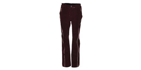 Dámské tmavě fialové softshellové lyžařské kalhoty Trimm
