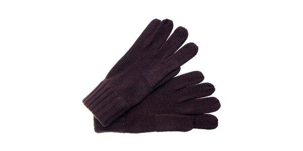 Dámské tmavě hnědé rukavice Fraas