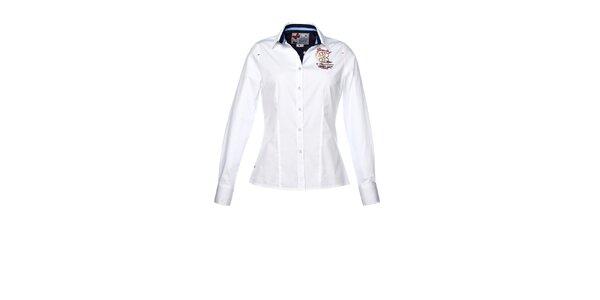 Dámská bílá košile s projmutým střihem M. Conte