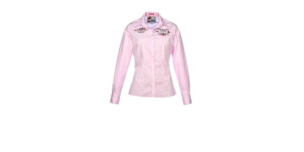 Dámská růžová košile s dlouhým rukávem M. Conte