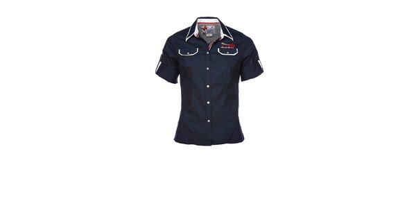 Dámská tmavě modrá sportovní košile s nášivkou M. Conte