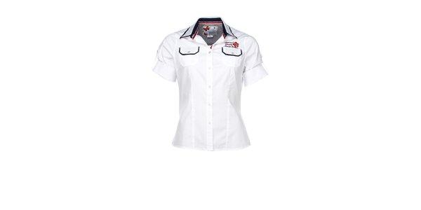 Dámská bílá sportovní košile s nášivkou M. Conte