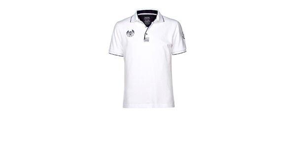 Pánské bílé polo triko M. Conte