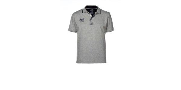 Pánské šedé polo tričko M. Conte