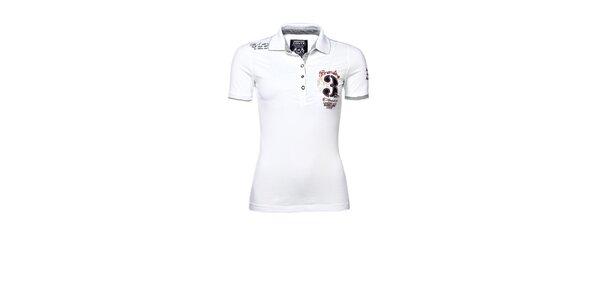 Dámské bílé polo s výšivkou M. Conte