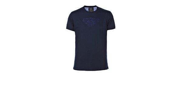 Pánské tmavě modré tričko s výšivkou M. Conte