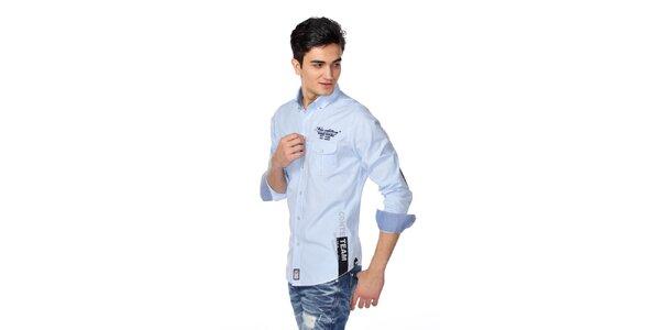 Pánská světle modrá košile M. Conte