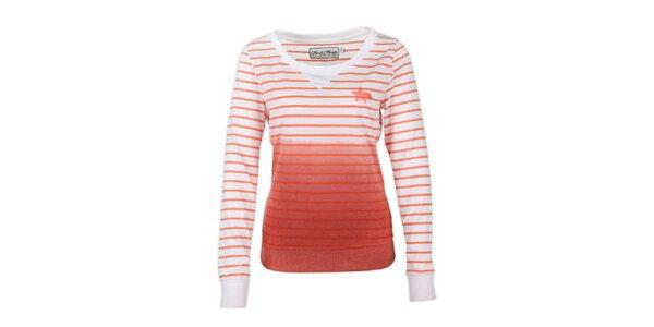 Dámský svetr s oranžovými proužky Fresh Made