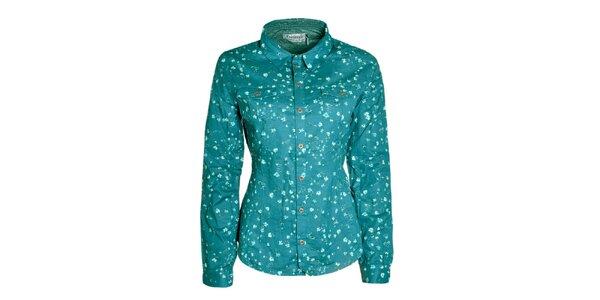 Dámská tyrkysová košile s kvítky Fresh Made