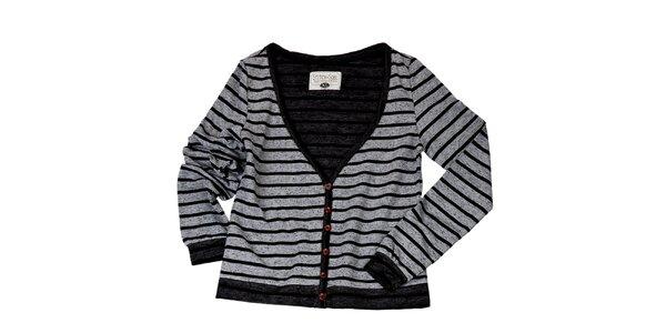 Dámský šedý svetr s proužky Stitch&Soul