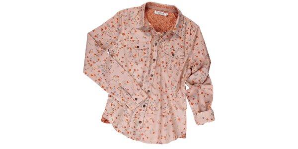 Dámská starorůžová košile s kvítky Fresh Made