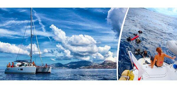 Dovolená na Kanárských ostrovech v pohodlí katamaranu s potápěčským kurzem…