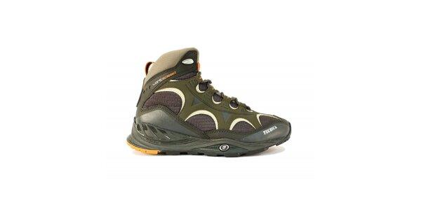 Pánská vyšší multifunkční obuv Tecnica v khaki barvě