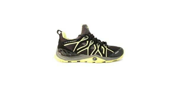 Dámské černé nízké boty s neonovými detaily Tecnica