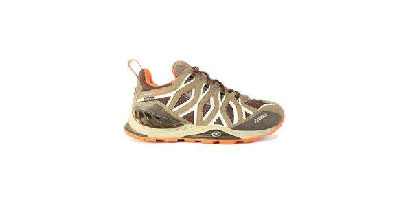Dámské nízké béžovo-oranžovo-bílé trekové boty Tecnica