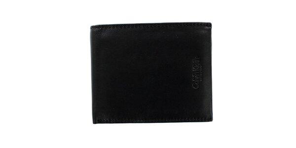 Pánská čtvercová černá peněženka z kůže Calvin Klein
