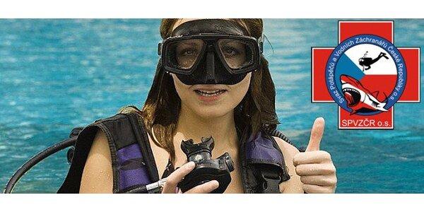 Zkušební potápění s instruktorem na volné vodě