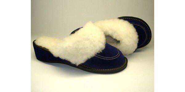 """Dámské pantofle """"modré z nebe"""" s podpatkem"""