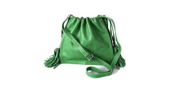 Dámská zelená kabelka se střapci Belle & Bloom