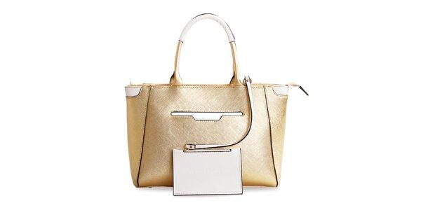 Dámská kožená kabelka ve zlaté barvě Belle & Bloom