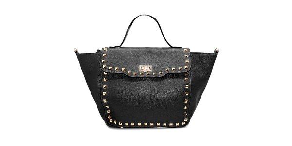 Dámská černá kožená kabelka s flitry Belle & Bloom